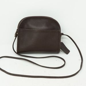 Vintage Coach Brown Crossbody Leather